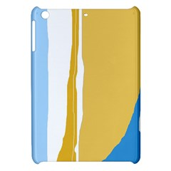 Blue And Yellow Lines Apple Ipad Mini Hardshell Case by Valentinaart