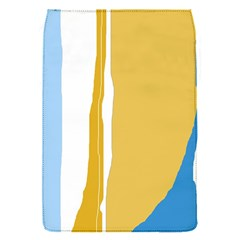 Blue And Yellow Lines Flap Covers (s)  by Valentinaart