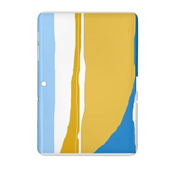 Blue And Yellow Lines Samsung Galaxy Tab 2 (10 1 ) P5100 Hardshell Case  by Valentinaart
