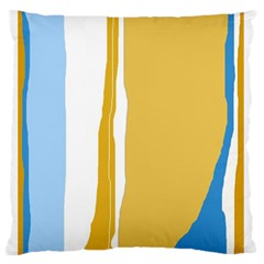 Blue and yellow lines Standard Flano Cushion Case (Two Sides) by Valentinaart
