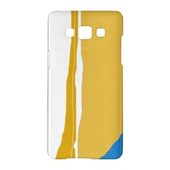 Blue And Yellow Lines Samsung Galaxy A5 Hardshell Case  by Valentinaart