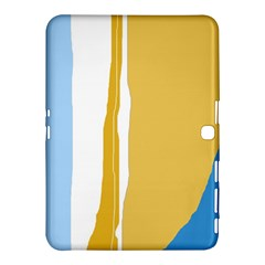 Blue And Yellow Lines Samsung Galaxy Tab 4 (10 1 ) Hardshell Case  by Valentinaart