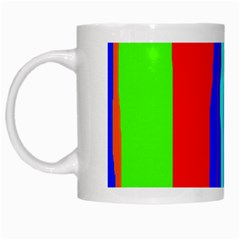 Colorful Decorative Lines White Mugs by Valentinaart