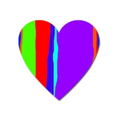 Colorful Decorative Lines Heart Magnet by Valentinaart