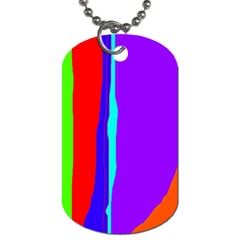 Colorful Decorative Lines Dog Tag (two Sides) by Valentinaart