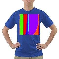 Colorful Decorative Lines Dark T Shirt by Valentinaart