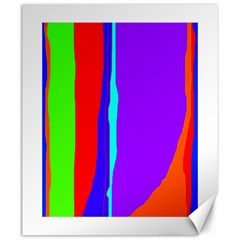 Colorful Decorative Lines Canvas 20  X 24   by Valentinaart
