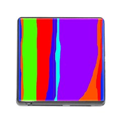 Colorful Decorative Lines Memory Card Reader (square) by Valentinaart
