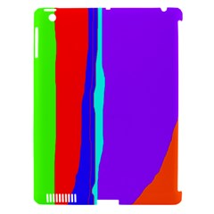 Colorful Decorative Lines Apple Ipad 3/4 Hardshell Case (compatible With Smart Cover) by Valentinaart