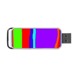 Colorful Decorative Lines Portable Usb Flash (one Side) by Valentinaart