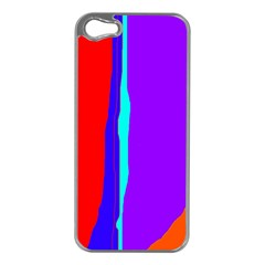 Colorful Decorative Lines Apple Iphone 5 Case (silver) by Valentinaart