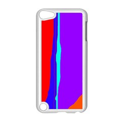 Colorful decorative lines Apple iPod Touch 5 Case (White) by Valentinaart