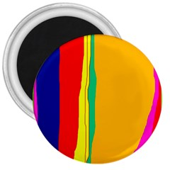 Colorful Lines 3  Magnets by Valentinaart