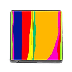 Colorful lines Memory Card Reader (Square) by Valentinaart
