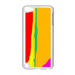 Colorful Lines Apple Ipod Touch 5 Case (white) by Valentinaart