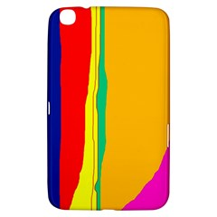 Colorful Lines Samsung Galaxy Tab 3 (8 ) T3100 Hardshell Case  by Valentinaart
