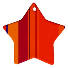 Orange Lines Star Ornament (two Sides)  by Valentinaart