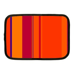 Orange Lines Netbook Case (medium)  by Valentinaart