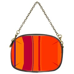 Orange Lines Chain Purses (two Sides)  by Valentinaart