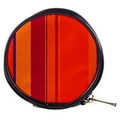Orange Lines Mini Makeup Bags by Valentinaart