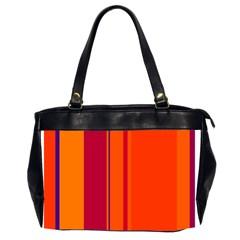 Orange Lines Office Handbags (2 Sides)