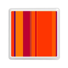 Orange Lines Memory Card Reader (square)  by Valentinaart