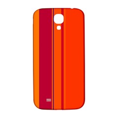 Orange Lines Samsung Galaxy S4 I9500/i9505  Hardshell Back Case by Valentinaart