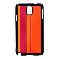 Orange Lines Samsung Galaxy Note 3 Neo Hardshell Case (black) by Valentinaart