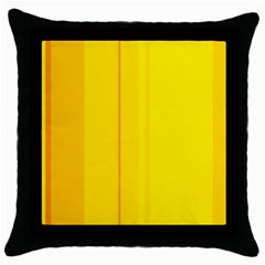 Yellow Lines Throw Pillow Case (black) by Valentinaart