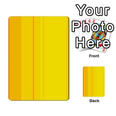 Yellow lines Multi-purpose Cards (Rectangle)