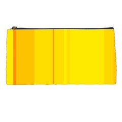 Yellow Lines Pencil Cases by Valentinaart
