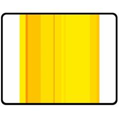 Yellow lines Fleece Blanket (Medium)  by Valentinaart