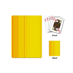 Yellow lines Playing Cards (Mini)