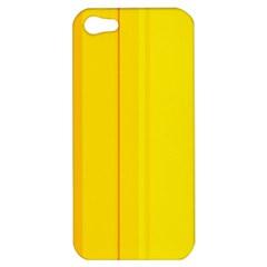 Yellow Lines Apple Iphone 5 Hardshell Case by Valentinaart