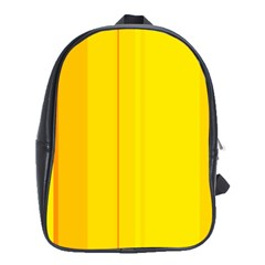 Yellow Lines School Bags (xl)  by Valentinaart