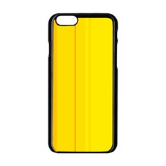 Yellow Lines Apple Iphone 6/6s Black Enamel Case by Valentinaart