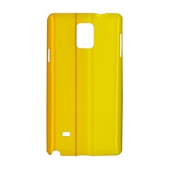 Yellow Lines Samsung Galaxy Note 4 Hardshell Case by Valentinaart