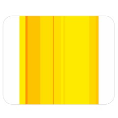 Yellow lines Double Sided Flano Blanket (Medium)  by Valentinaart