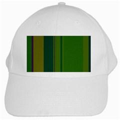 Green Elegant Lines White Cap by Valentinaart