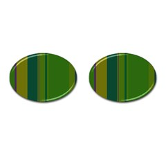 Green Elegant Lines Cufflinks (oval) by Valentinaart