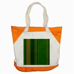 Green Elegant Lines Accent Tote Bag by Valentinaart