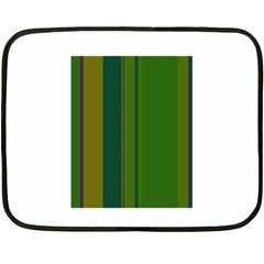Green Elegant Lines Double Sided Fleece Blanket (mini)  by Valentinaart