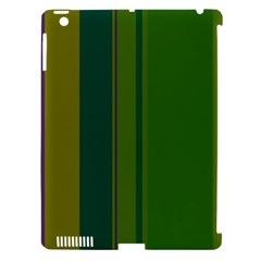 Green Elegant Lines Apple Ipad 3/4 Hardshell Case (compatible With Smart Cover) by Valentinaart