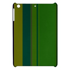 Green Elegant Lines Apple Ipad Mini Hardshell Case by Valentinaart
