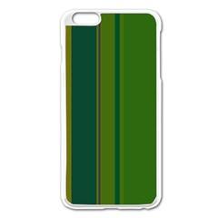 Green Elegant Lines Apple Iphone 6 Plus/6s Plus Enamel White Case by Valentinaart