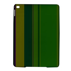 Green Elegant Lines Ipad Air 2 Hardshell Cases by Valentinaart