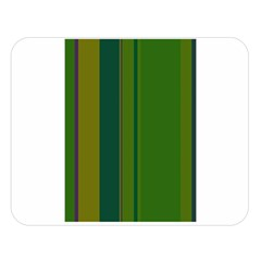 Green Elegant Lines Double Sided Flano Blanket (large)  by Valentinaart