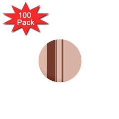 Elegant Brown Lines 1  Mini Buttons (100 Pack)  by Valentinaart