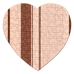 Elegant Brown Lines Jigsaw Puzzle (heart) by Valentinaart