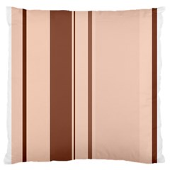 Elegant brown lines Standard Flano Cushion Case (Two Sides) by Valentinaart